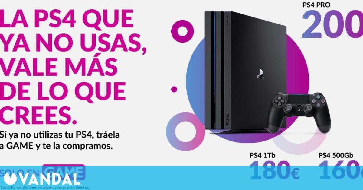 Lleva tu PS4 a GAME y consigue hasta 200 euros o packs de juegos y accesorios de PS5 (01/07/2021)