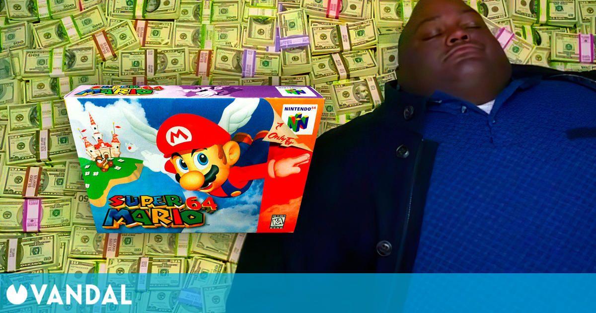 Un Super Mario 64 se subasta por 1,5 millones de dólares, el doble que el anterior récord