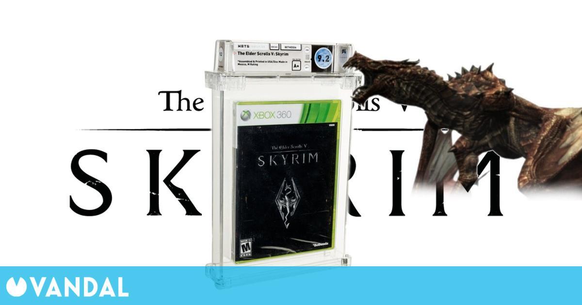 Skyrim: Alguien ha comprado una copia del juego de Bethesda por 600 dólares