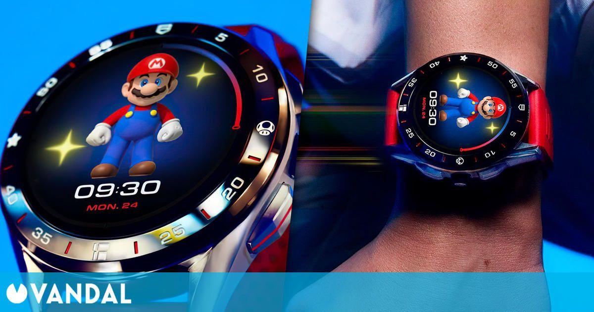 TAG Heuer y Nintendo lanzan un reloj de lujo de Super Mario por 2150 dólares