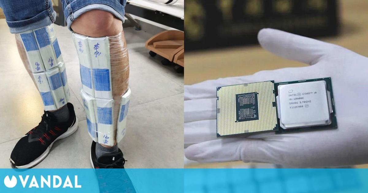 Detenido un contrabandista con 256 procesadores para jugar ocultos en sus piernas