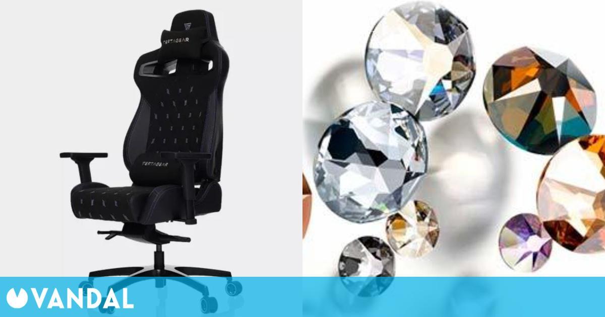 Vertagear PL4500, la silla para gamers más lujosa con cristales de Swarovski incorporados