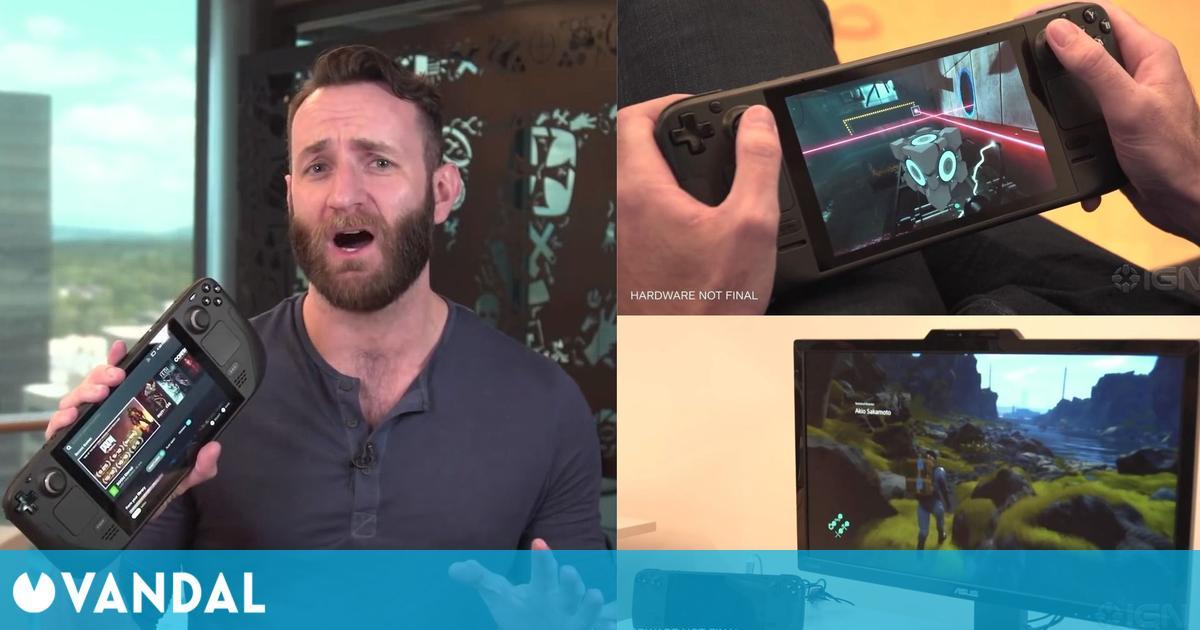 Steam Deck: Así son los primeros gameplays en la portátil de Valve