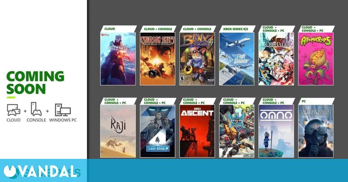 Flight Simulator, Cris Tales, Blinx y otros 9 juegos llegan a Xbox Game Pass en julio