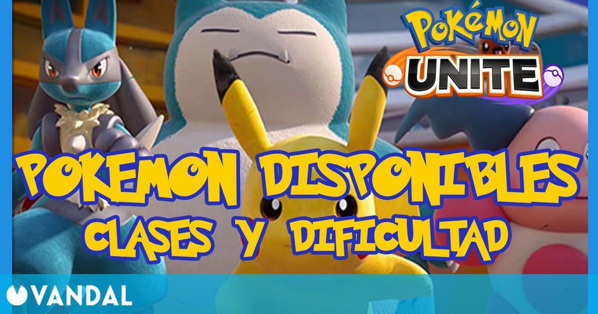 Pokémon Unite: Todos los Pokémon disponibles de lanzamiento