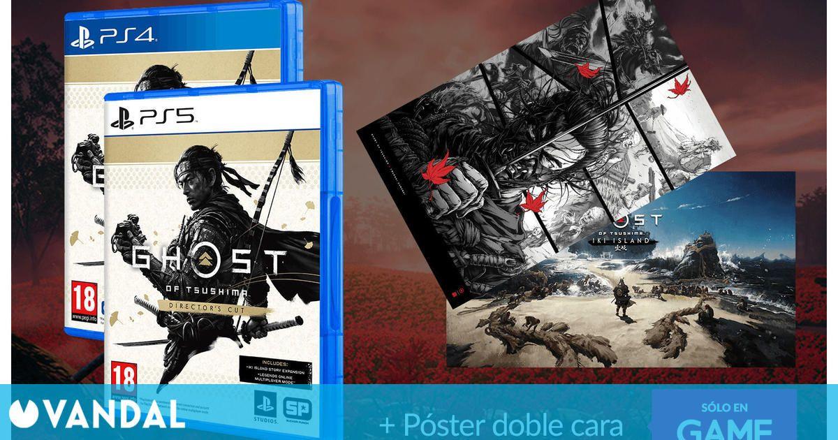 Si reservas Ghost of Tsushima Director's Cut en Game te llevas un póster a doble cara de regalo