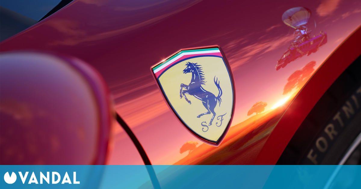 Fortnite añade hoy el Ferrari 296 GTB, su primer vehículo licenciado