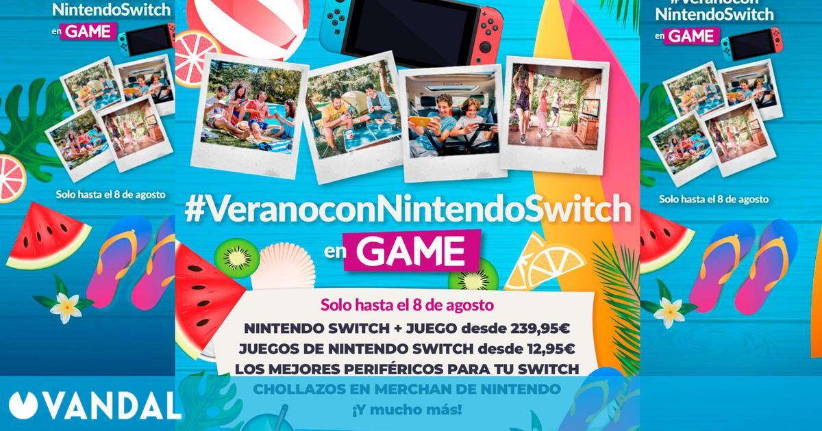 GAME inicia las ofertas de verano con Nintendo Switch: consolas, juegos y más de rebaja