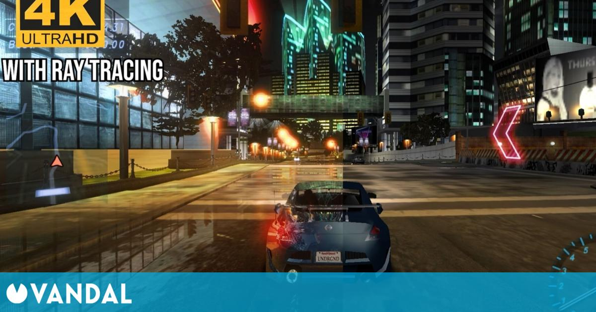 Need for Speed: Underground luce genial a 4K y con Ray tracing gracias a los mods