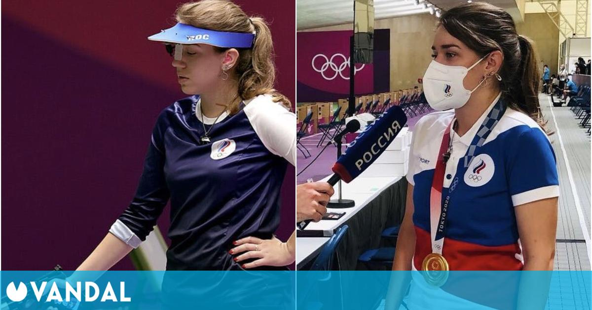 Una atleta olímpica luce un medallón de brujo de The Witcher en las olimpiadas
