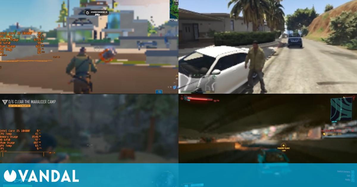 Comprueban cómo lucen varios juegos actuales a 72p de resolución
