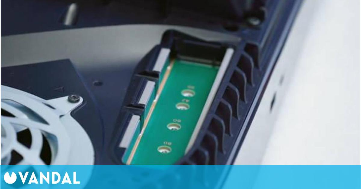 Sony comienza una beta en PS5 para probar la ampliación de su almacenamiento SSD