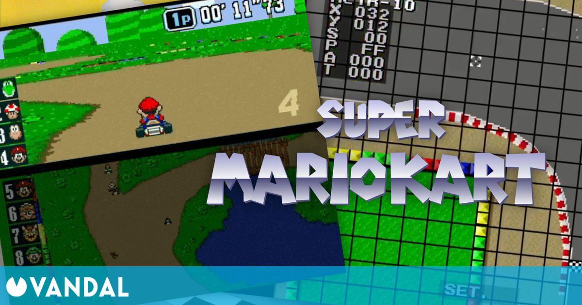 Publican un curioso prototipo de Super Mario Kart de SNES con editor de pistas incluido