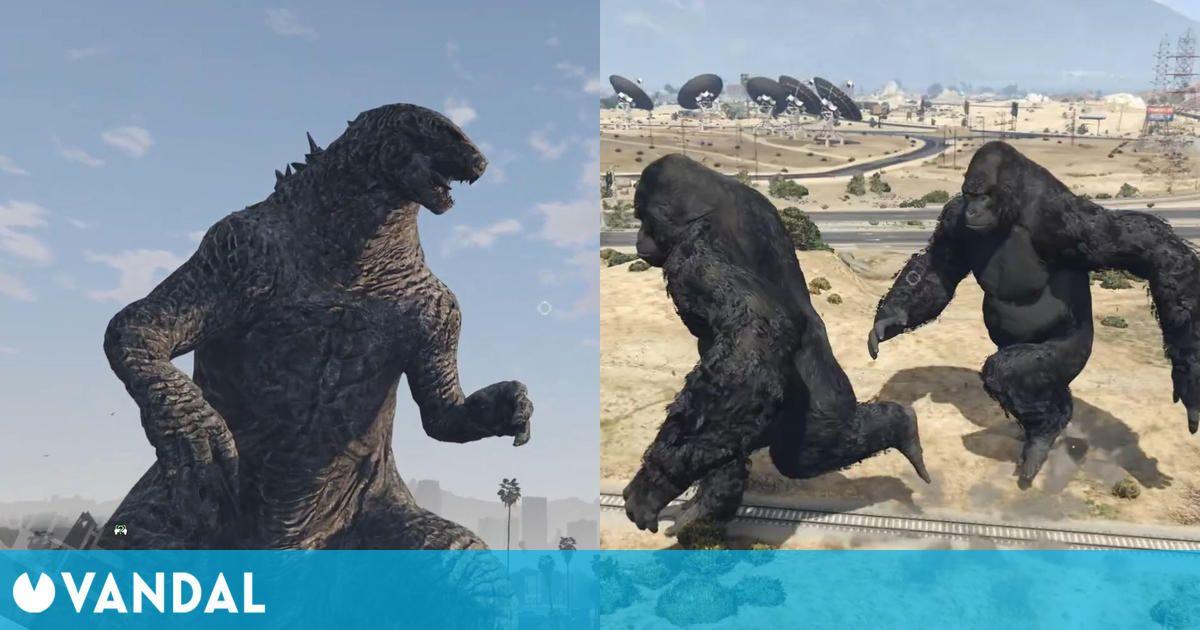 Ya está disponible el alocado mod para GTA 5 de Godzilla y King Kong