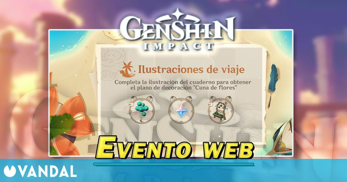 Genshin Impact: Gana Protogemas gratis en el evento web Ilustraciones de viaje