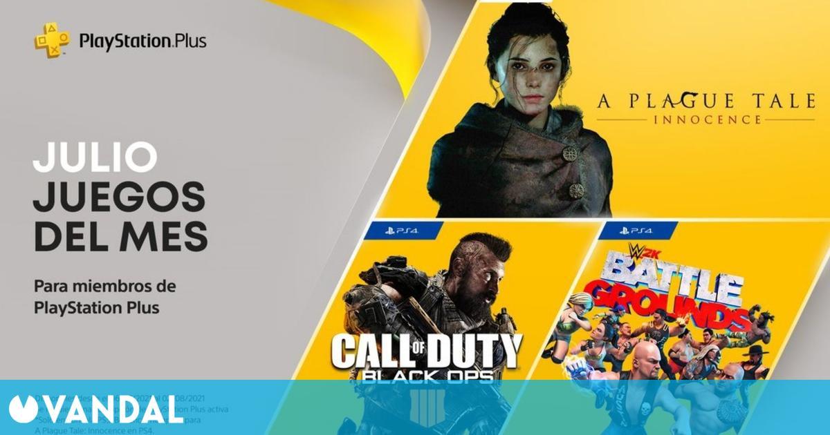 Ya disponibles los juegos gratis de PS Plus en julio de 2021 para PS4 y PS5