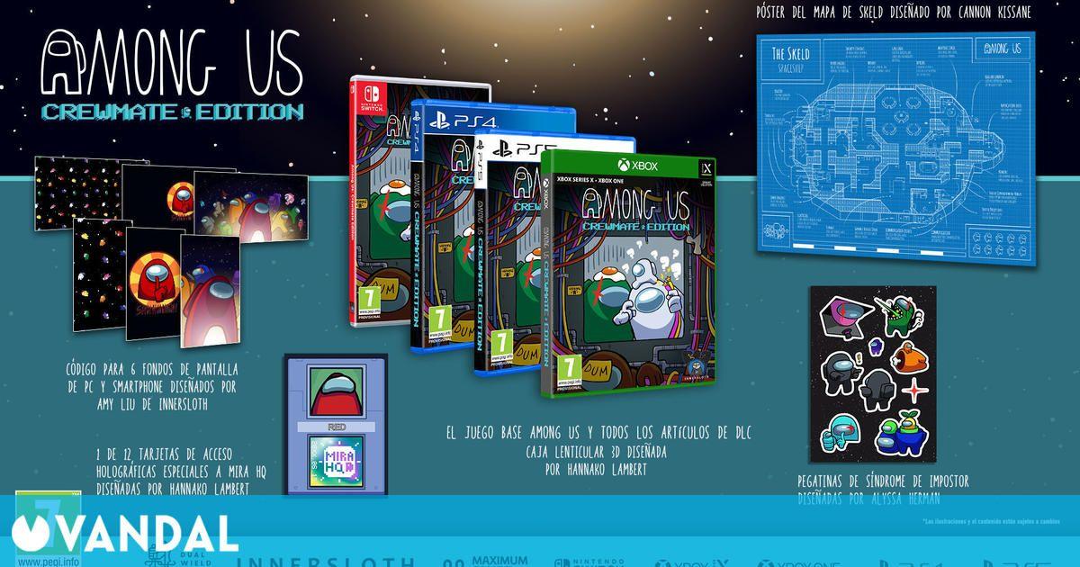 Among Us tendrá tres ediciones físicas a finales de año para PlayStation, Xbox y Switch