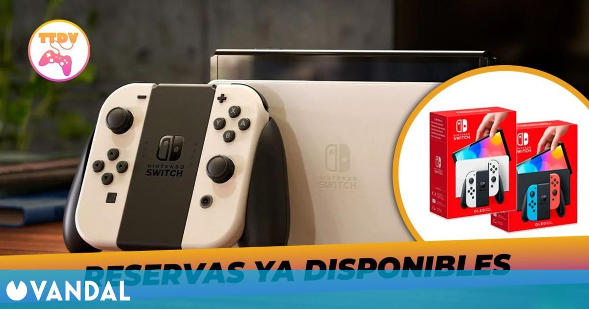 Nintendo Switch OLED ya se puede reservar en TTDV por 339,99 euros