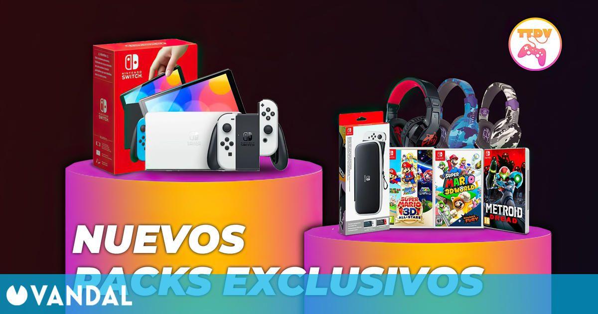Consigue tu pack ideal de Nintendo Switch OLED con juegos o accesorios en TTDV