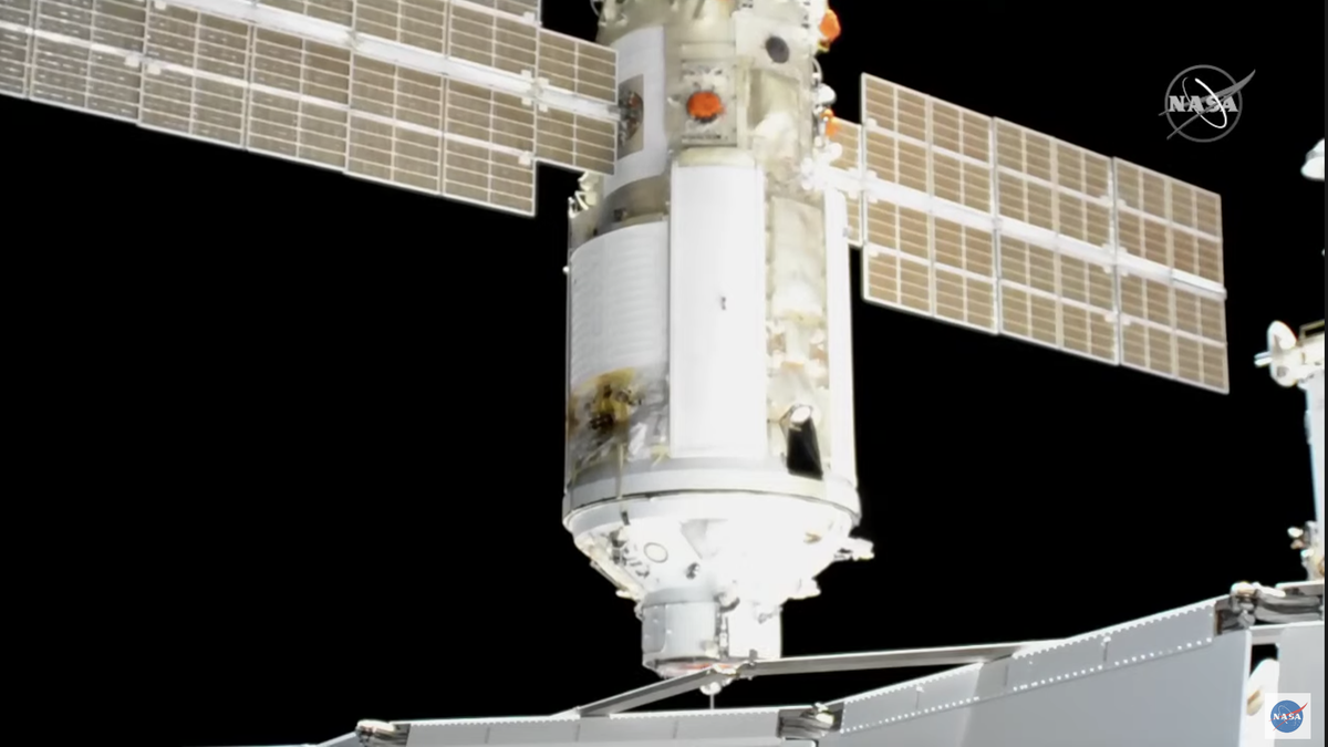 Módulo ruso activó propulsores por accidente tras acoplarse a la ISS