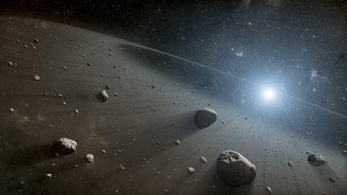 Astrónomos detectan dos objetos rojos en cinturón de asteroides