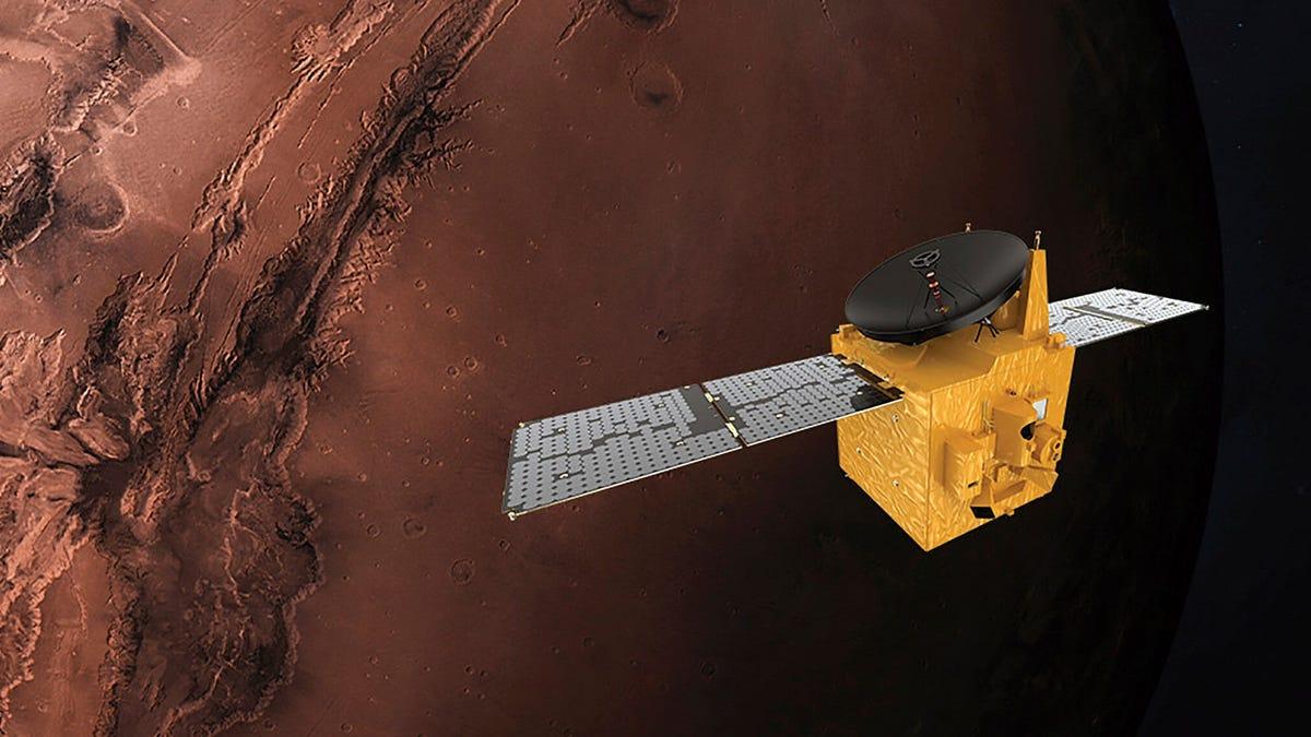 La sonda Hope captura por primera vez una aurora marciana en toda su plenitud