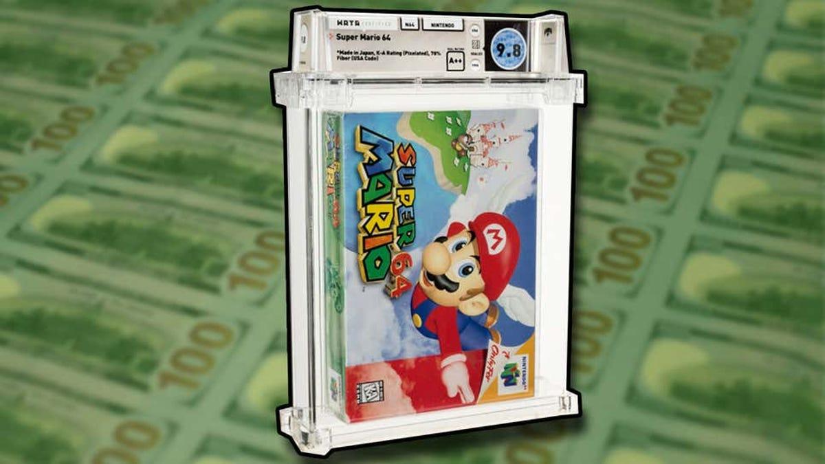 Un millón y medio por un Super Mario 64