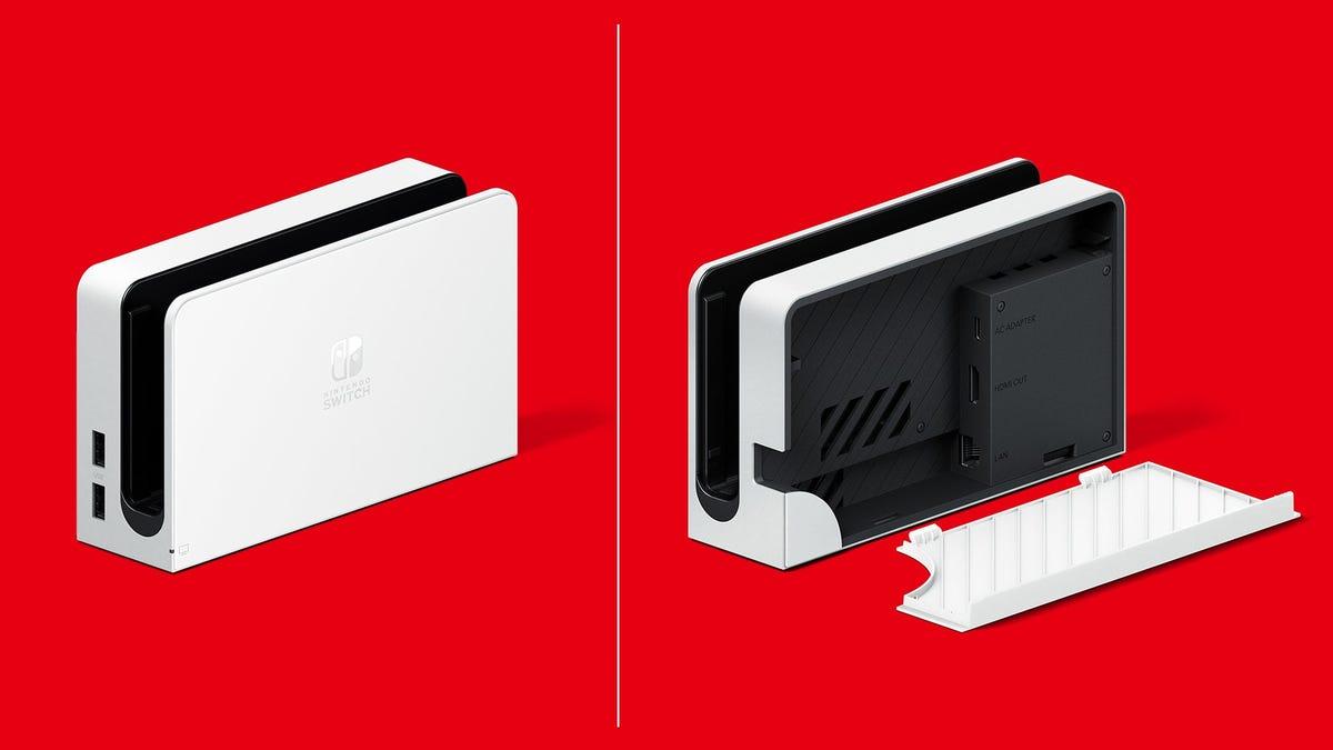 Podrás comprar el nuevo dock de la Switch OLED por separado