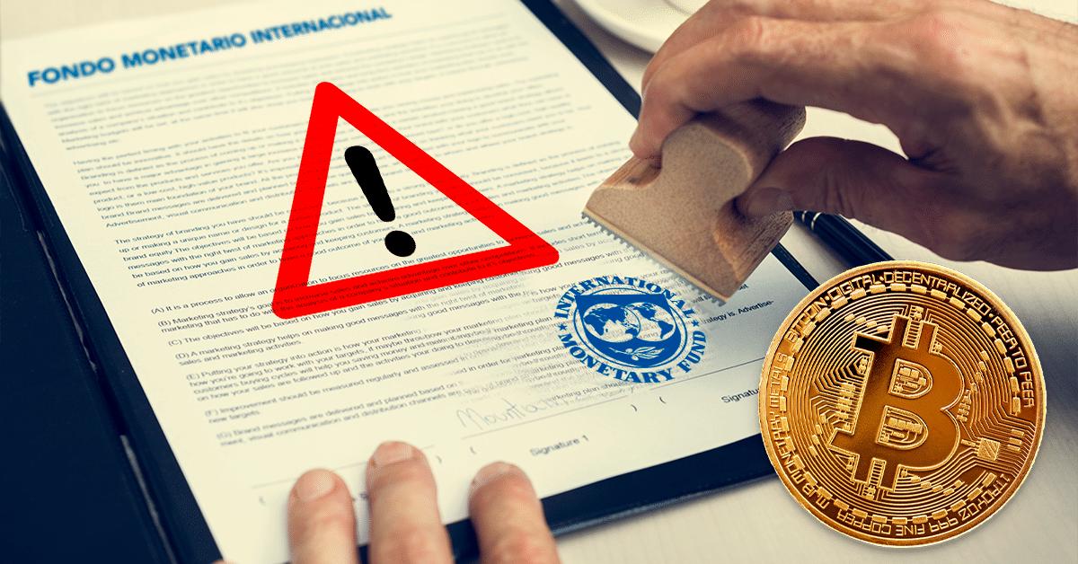 """FMI considera """"un paso demasiado lejos"""" que los países adopten bitcoin"""