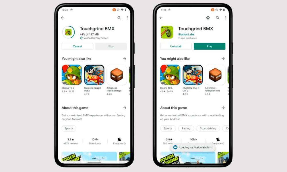 Jugar mientras descargas, lo último de Android 12