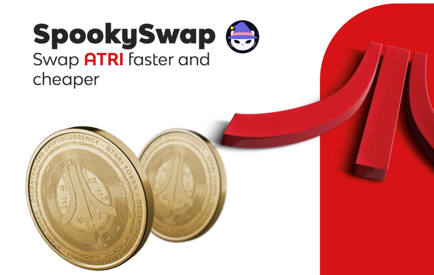 Los entusiastas de los juegos de blockchain ahora pueden intercambiar tokens ATRI más rápido y más barato usando SpookySwap