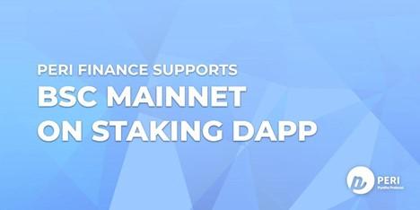 PERI Finance se está lanzando en BSC Mainnet con un APY del 1025% en Staking