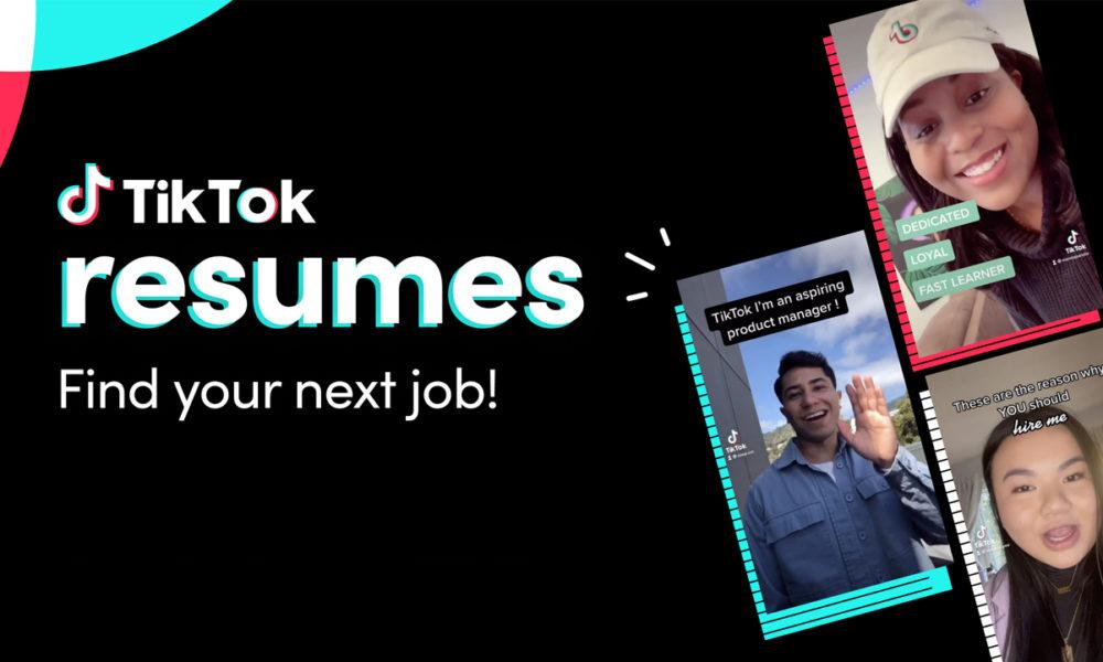 TikTok Resumes nos ayuda a encontrar trabajo de una manera original