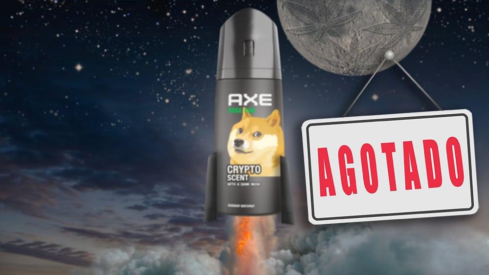 Con olor a «Musk» y mucho wow, AXE lanza desodorante de Dogecoin y se agota en minutos