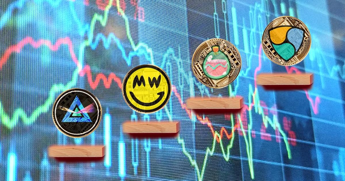 Token de Axie Infinity y NEM encabezan el top semanal en un mercado que sigue rojo