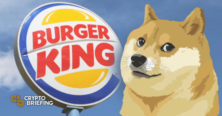 Burger King Brasil está tomando Dogecoin para golosinas para perros