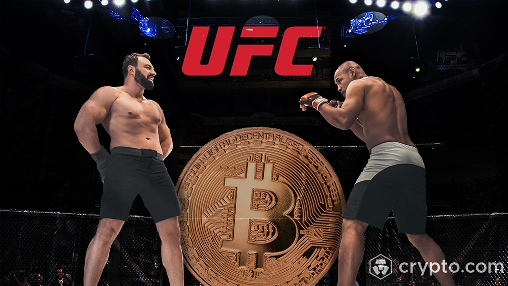 Bitcoin y criptomonedas se pelean en la UFC a través de Crypto.com