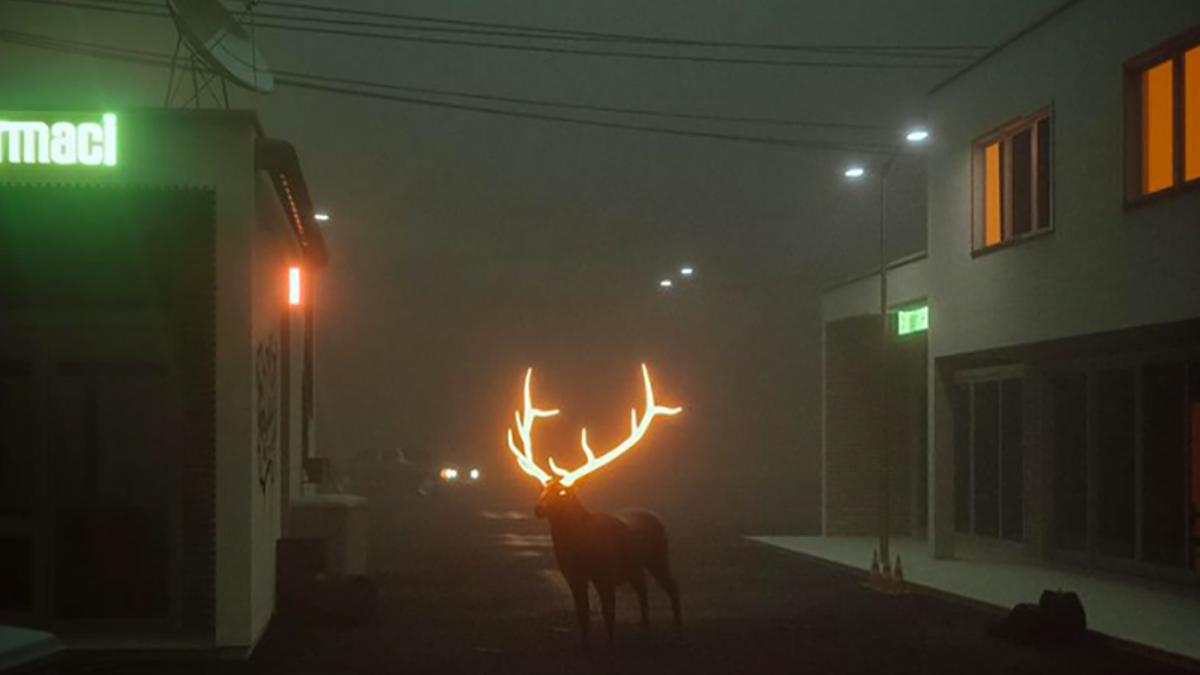 Esta foto de un reno con los cuernos luminosos es falsa