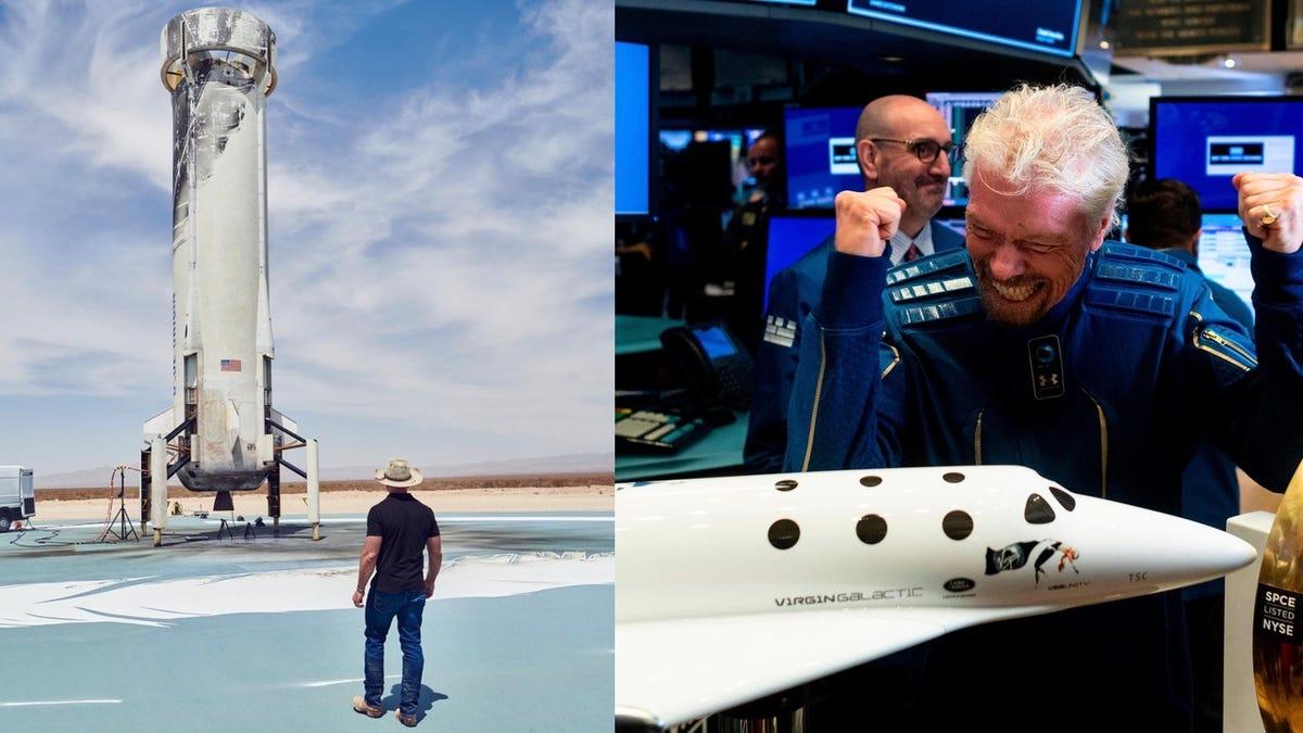 Blue Origin dice que, a diferencia de Jeff Bezos, Richard Branson no volará realmente al espacio