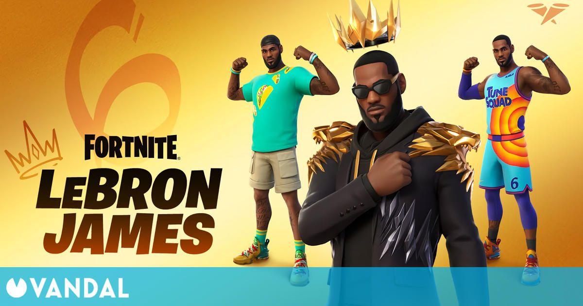 LeBron James llega a Fortnite el 15 de julio: Así serán sus skins