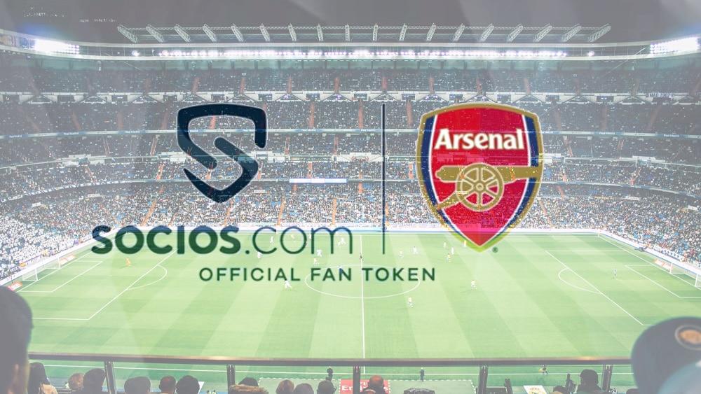 Club inglés Arsenal tendrá fan token en Socios.com