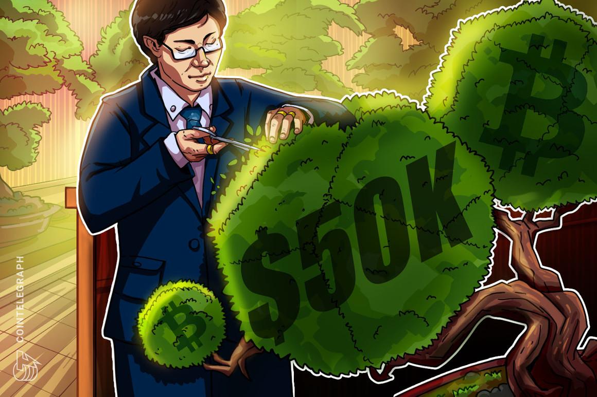 Analistas afirman que el retroceso del precio de Bitcoin y la toma de ganancias en los USD 50,000 eran de esperar