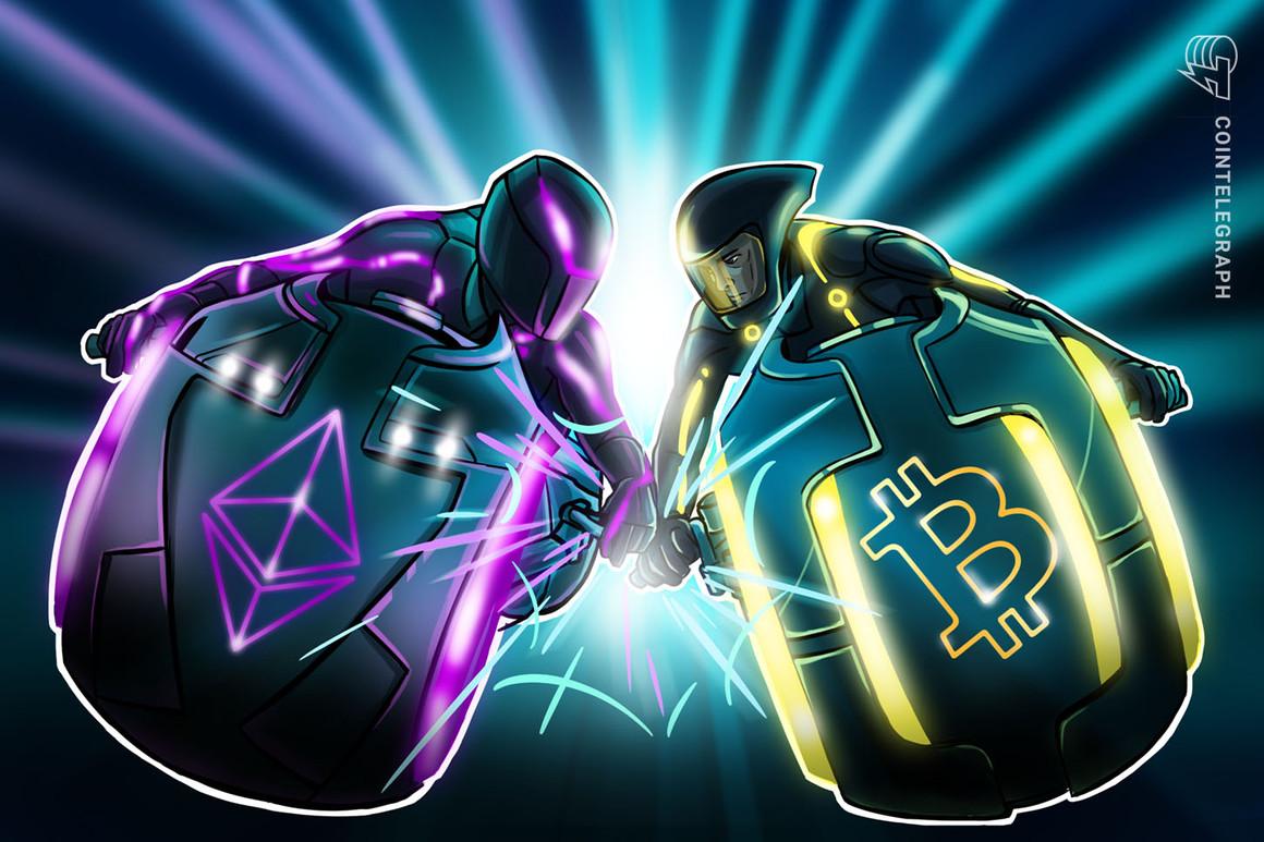 Ethereum consolida una racha de 3 semanas de victorias frente a Bitcoin mientras el precio de BTC se sitúa por debajo de los 39,000 dólares