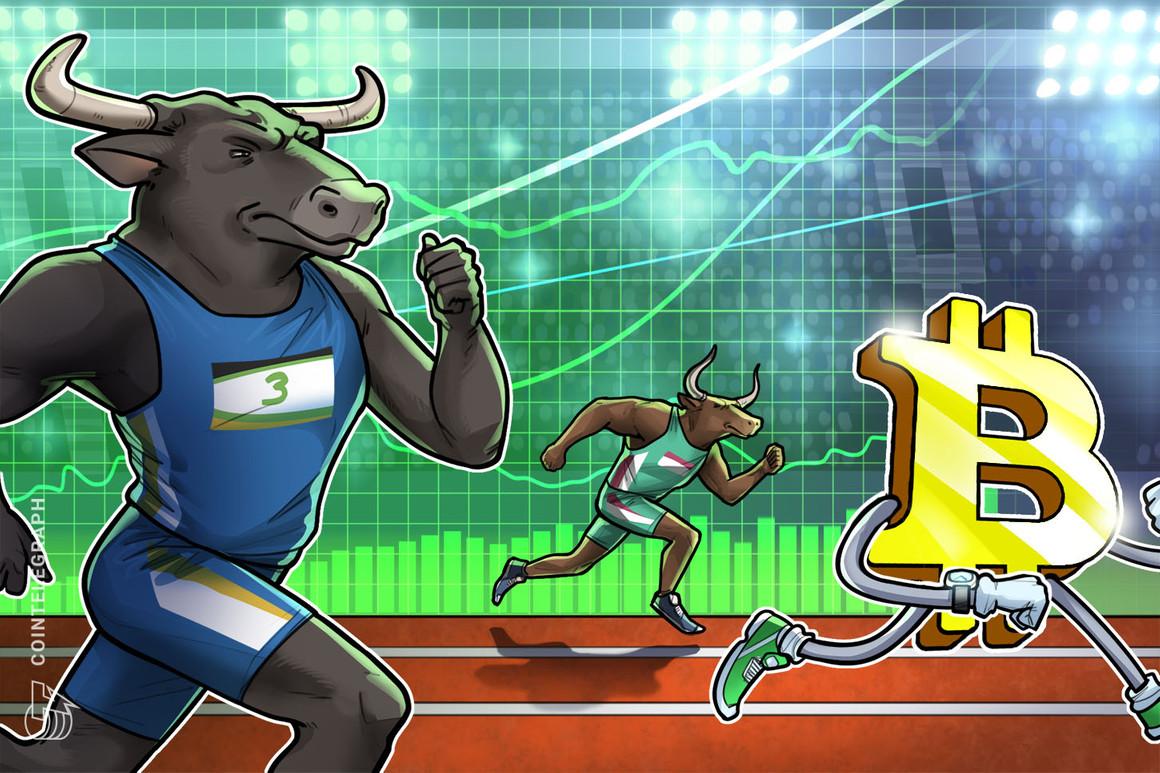 Bitcoin 'espera la segunda etapa del mercado alcista', mientras que su precio alcanza picos de 3 meses de USD 46,000
