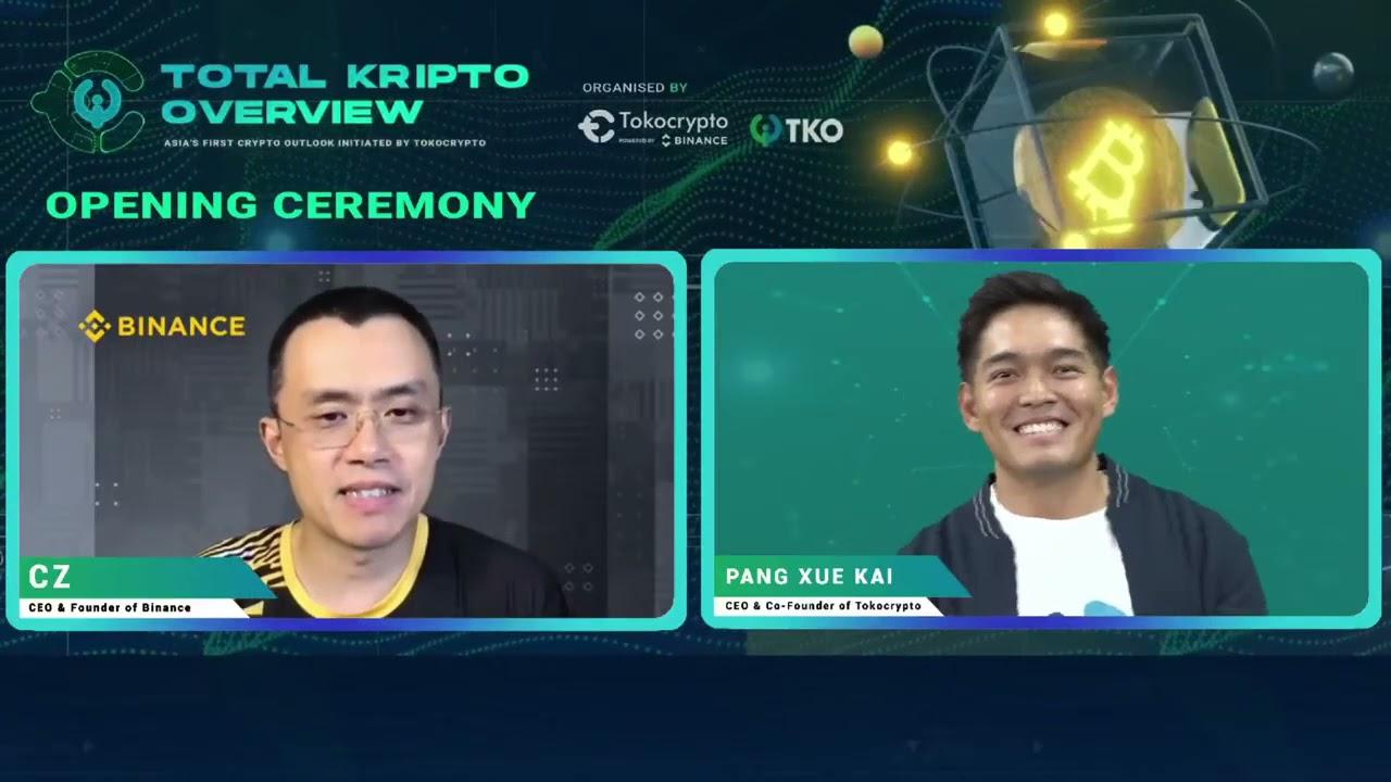 CZ and Kai (CEO of Tokocrypto) – TKO Summit 2021