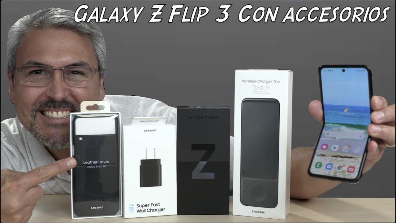 Galaxy Z Flip 3 con accesorios Unboxing primeras impresiones