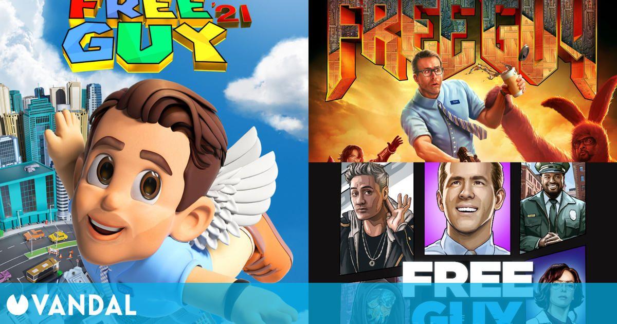 Free Guy libera varios carteles inspirados en Super Mario 64, GTA, Doom y varias sagas
