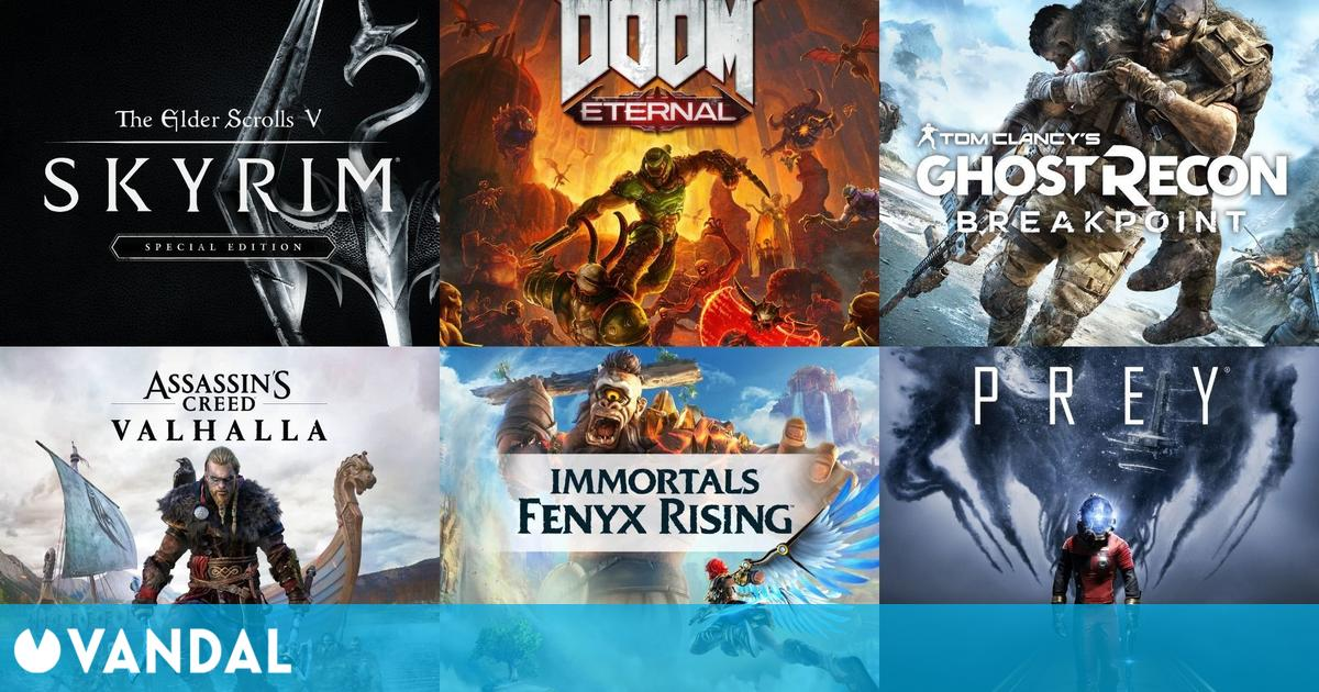 Ofertas Xbox: saga Assassin's Creed, DOOM Eternal, Immortals Fenyx Rising, Prey…