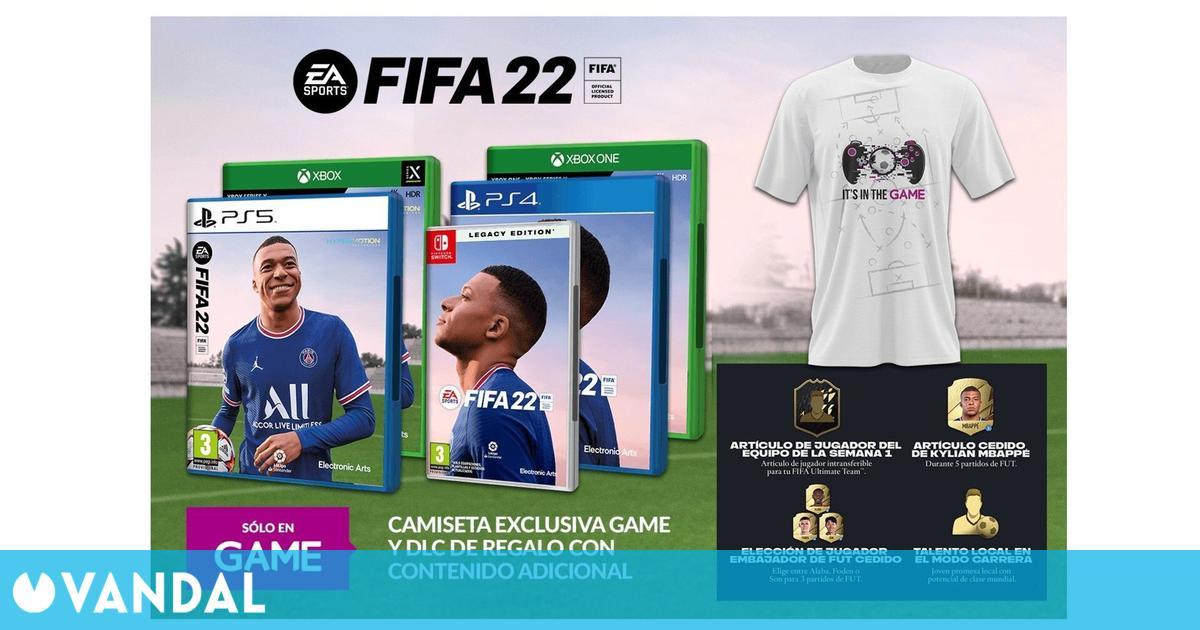 GAME detalla los incentivos por la reserva de FIFA 22