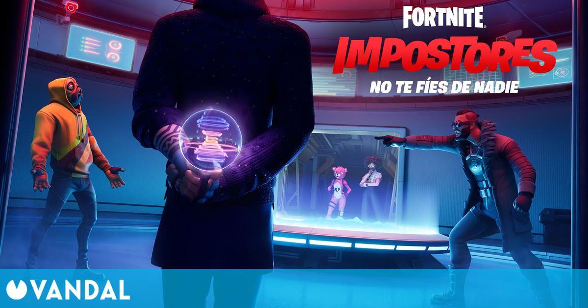 Fortnite se inspira en Among Us en su nuevo modo de juego 'Impostores'